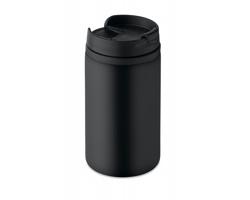 Nerezový dvouplášťový hrnek CITES, 250 ml - černá