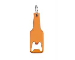Hliníkový přívěsek na klíče otvírák DUNLAP ve tvaru láhve - oranžová