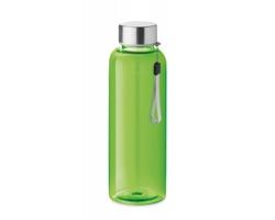 Tritanová transparentní láhev na pití PEWTER s poutkem, 500 ml - transparentní limetková