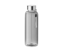 Tritanová transparentní láhev na pití PEWTER s poutkem, 500 ml - transparentní šedá