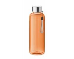 Tritanová transparentní láhev na pití PEWTER s poutkem, 500 ml - transparentní oranžová