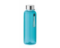 Tritanová transparentní láhev na pití PEWTER s poutkem, 500 ml - transparentní modrá