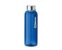Tritanová transparentní láhev na pití PEWTER s poutkem, 500 ml - královská modrá