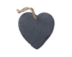 Břidlicová vánoční ozdoba OPTED ve tvaru srdce - černá