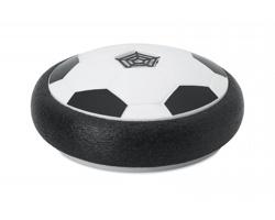 Plastový fotbalový míč QUEER s pěnovými okraji - bílá / černá