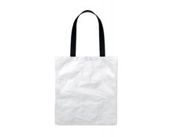 Polyesterová nákupní taška PEEN s bavlněnými uchy - bílá
