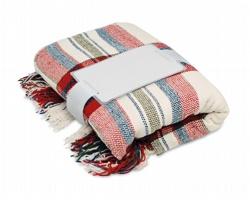 Polyesterová deka s třásněmi DIEM v dárkovém balení - červená