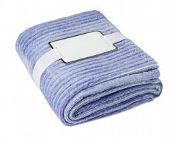 Flanelová hřejivá deka JUBE s dárkovou stužkou - modrá