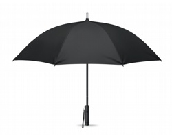Manuální deštník UNASPIR se svítilnou - černá