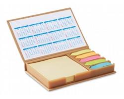 Sada lepicích papírků HUNKS v papírové krabičce s kalendářem - béžová