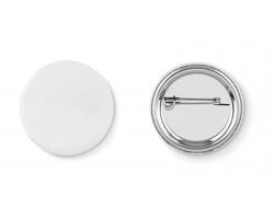 Kovový button SHOWY s vloženým papírkem - matně stříbrná