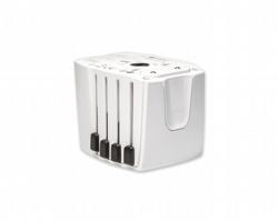 Kompaktní cestovní univerzální adaptér LANES - bílá