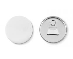 Magnetický button POLYADIC s otvírákem lahví - matně stříbrná