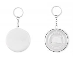 Přívěsek na klíče button PANASO s otvírákem lahví - matně stříbrná