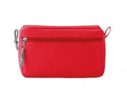 Polyesterová kosmetická taška SADDLED s poutkem - červená