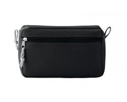 Polyesterová kosmetická taška SADDLED s poutkem - černá
