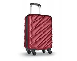 Cestovní kufr na PUNTS na kolečkách - červená
