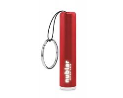 Plastová LED svítilna GRITS s podsvíceným gravírováním - červená