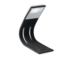 Plastová záložka do knihy DURAL s LED lampičkou - černá