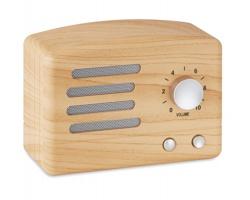 Plastový Bluetooth reproduktor CABBY v designu imitace dřeva - hnědá (dřevo)