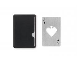 Kovový tenký otvírák SINN v designu hrací karty - matně stříbrná