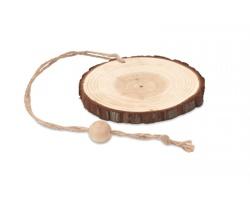 Dřevěná vánoční ozdoba SPRAG s konopnou šňůrkou - hnědá (dřevo)