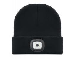 Akrylová čepice HOLT s odnímatelným LED světlem - černá