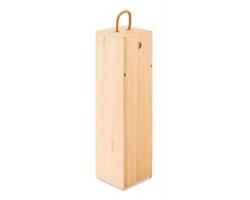 Dřevěná krabice na víno COHEN s poutkem - hnědá (dřevo)