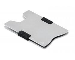 Hliníkové pouzdro na kartu PILAF s RFID ochranou - stříbrná