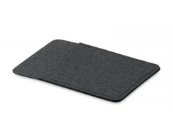 Polyesterové pouzdro na kartu WEEDY s lepítkem na zadní straně - černá