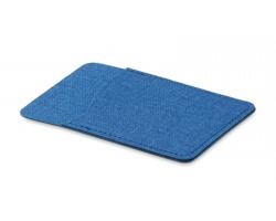 Polyesterové pouzdro na kartu WEEDY s lepítkem na zadní straně - modrá