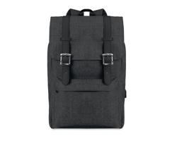 Polyesterový batoh na notebook LORON s magnetickým zavíráním - černá