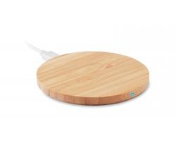 Bambusová bezdrátová nabíječka TUSKS pro chytré telefony - dřevěná