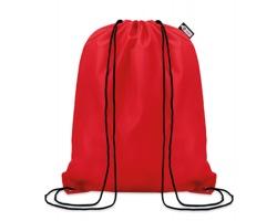 Ekologický batoh z recyklovaného materiálu INDO se zavíráním stahovací šňůrkou - červená