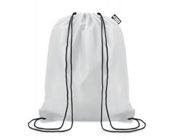 Ekologický batoh z recyklovaného materiálu INDO se zavíráním stahovací šňůrkou - bílá