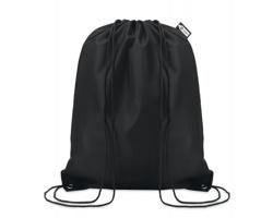Ekologický batoh z recyklovaného materiálu INDO se zavíráním stahovací šňůrkou - černá