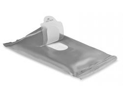 Vlhčené ubrousky WIPES, 10 ks - matně stříbrná