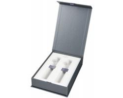 Značková dárková krabička Parker DRYS pro 2 pera - šedá