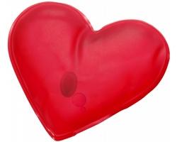 Hřejivý polštářek FAY ve tvaru srdce - červená