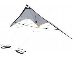 Létající drak typu delta CHAIME s pouzdrem - stříbrná / černá