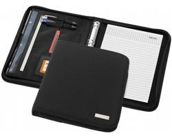 Luxusní konferenční desky na zip GONAD, formát A4 - černá