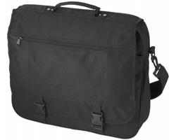 Konferenční taška ANCHORAGE s klopou na sponu - černá