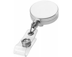 Plastový roller klip pro zavěšení jmenovky BEE - stříbrná