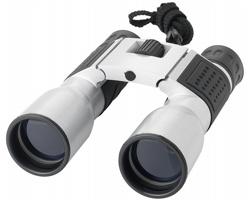 Kovový dalekohled SABLY s pouzdrem - stříbrná / černá