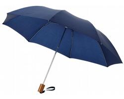 Dvoudílný polyesterový deštník RAINY s kovovou konstrukcí - námořní modrá