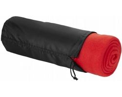 Fleecová deka LATENCY s pouzdrem - červená
