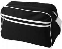 Taška přes rameno CAIN retro styl - černá