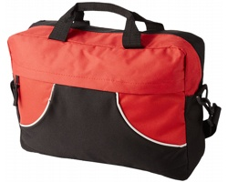 Konferenční taška SAGO s pouzdrem na telefon - černá / červená