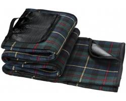 Pikniková deka BURPS s nepromokavou podšívkou - černá / zelená