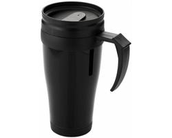 Plastový termohrnek GROOM CREEK, 330 ml - černá